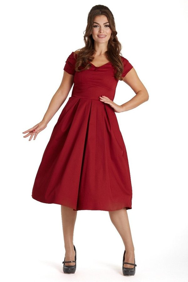 Swing Kleid Lilly weinrot