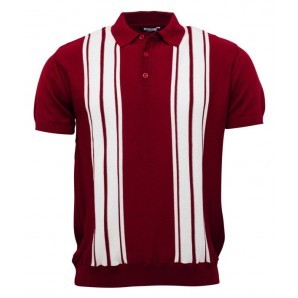 Strick Polo rot